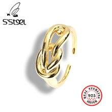 S'steel корейские кольца из стерлингового серебра 925 пробы