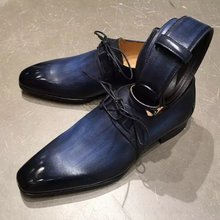 Masculino cor pura gradiente artesanal plutônio baixo calcanhar cinta apontou toe quatro estações moda tendência negócios sapatos casuais zq0036
