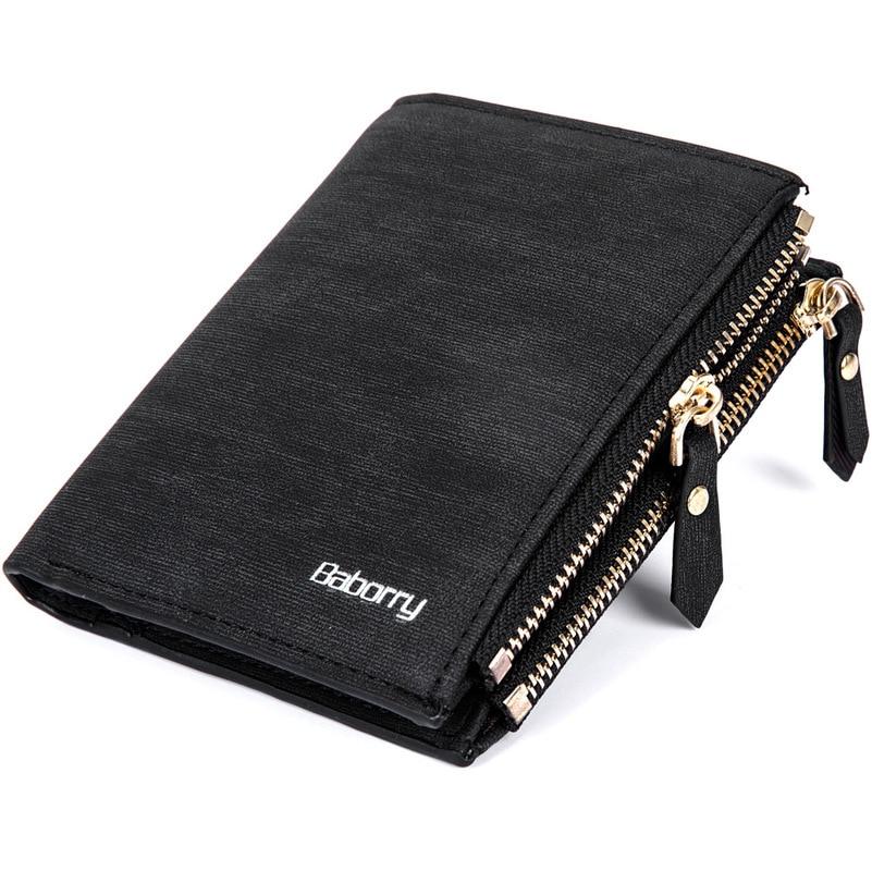 Vintage Men Wallet RFID Theft Protect Coin Bag Zipper Purse Wallets for Men with Zippers Magic Wallet Short Luxury Men's Purses 1