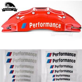 цена на 6pcs Car accessories car brake caliper sticker car decoration sticker decal For BMW M3 M5 M6 E36 E60 E90 E46 X1 X3 X5 E34 E39