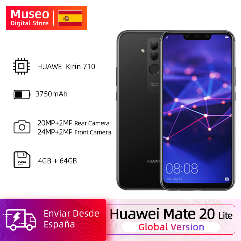Global Version Huawei Mate 20 Lite Smartphone Kirin 710 4G 64G 6.3 Inch 24MP Front Camera 3750mAh Smartphone Android 8.1