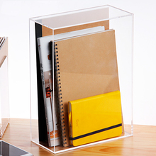 Storage-Box Magazine-Organizer Documents Desktop Durable Clear Paper-Collection-Box Dust-Proof