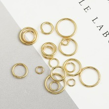 Open Earrings 18k Gold Bracelet Jewelry-Findings-Accessories Making-Connector for 100pcs/Pack