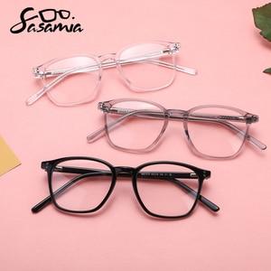 Image 3 - SASAMIA نظارات إطار شفاف واضح النساء إطار نظارات خلات مربع مشهد الأبيض نظارات العين إطارات النظارات للنساء