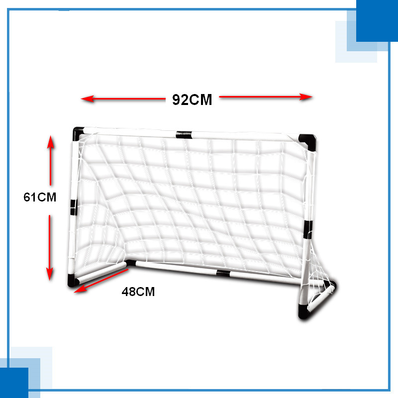 Football Goal Plastic Material Assembly Goal 92CM Width Free Children's Football And Goal Nets And Pumps