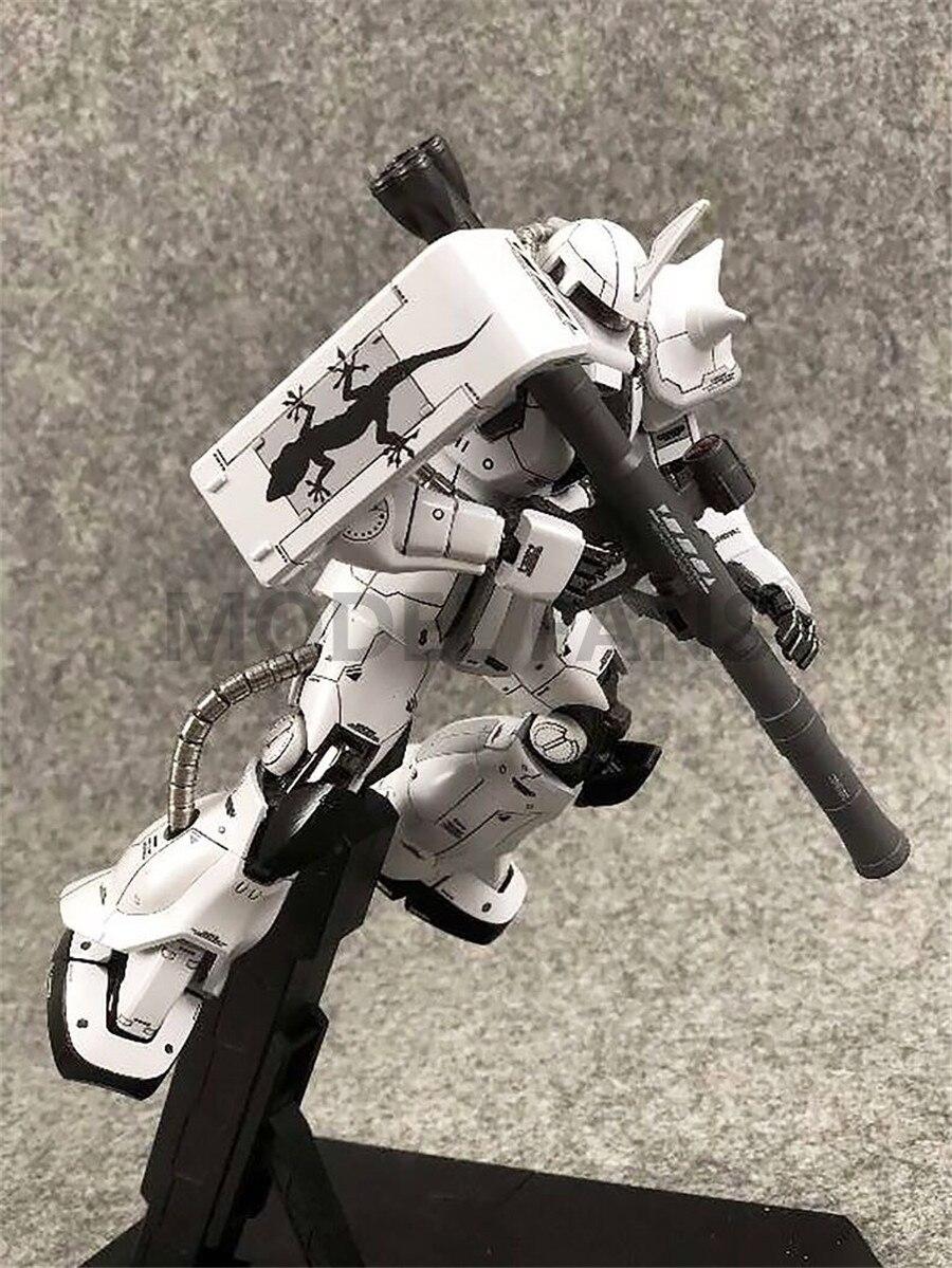Image 5 - MODEL FANS in stock METAL SOLDIER metal build  MB gundam 1/100 WHITE WOLF zaku II alloy robot action figureAction & Toy Figures   -