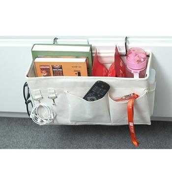 Bolsa de almacenamiento para cabecera de cama colgante organizador de almacenamiento colgante para cabeceros de dormitorio literas blancas