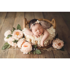 Newborn Photography Basket Vintage Baby Shooting Props Children Rattan Basket Children Baby Photography Woven Accessories