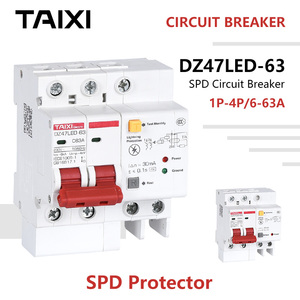 SPD Surge Protector Lightning Protector 2 Pole DZ47LE Circuit Breakers RCBO RCCB MCB RCD 16A 20A 25A 32A 40A 50A 63A DZ47LED(China)