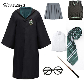 Adult Kids Potter Cloak Cosplay Costumes Magic Outfits Shirt Skirt Clothes Robe Costume Hermione School Uniform - discount item  43% OFF Costumes & Accessories