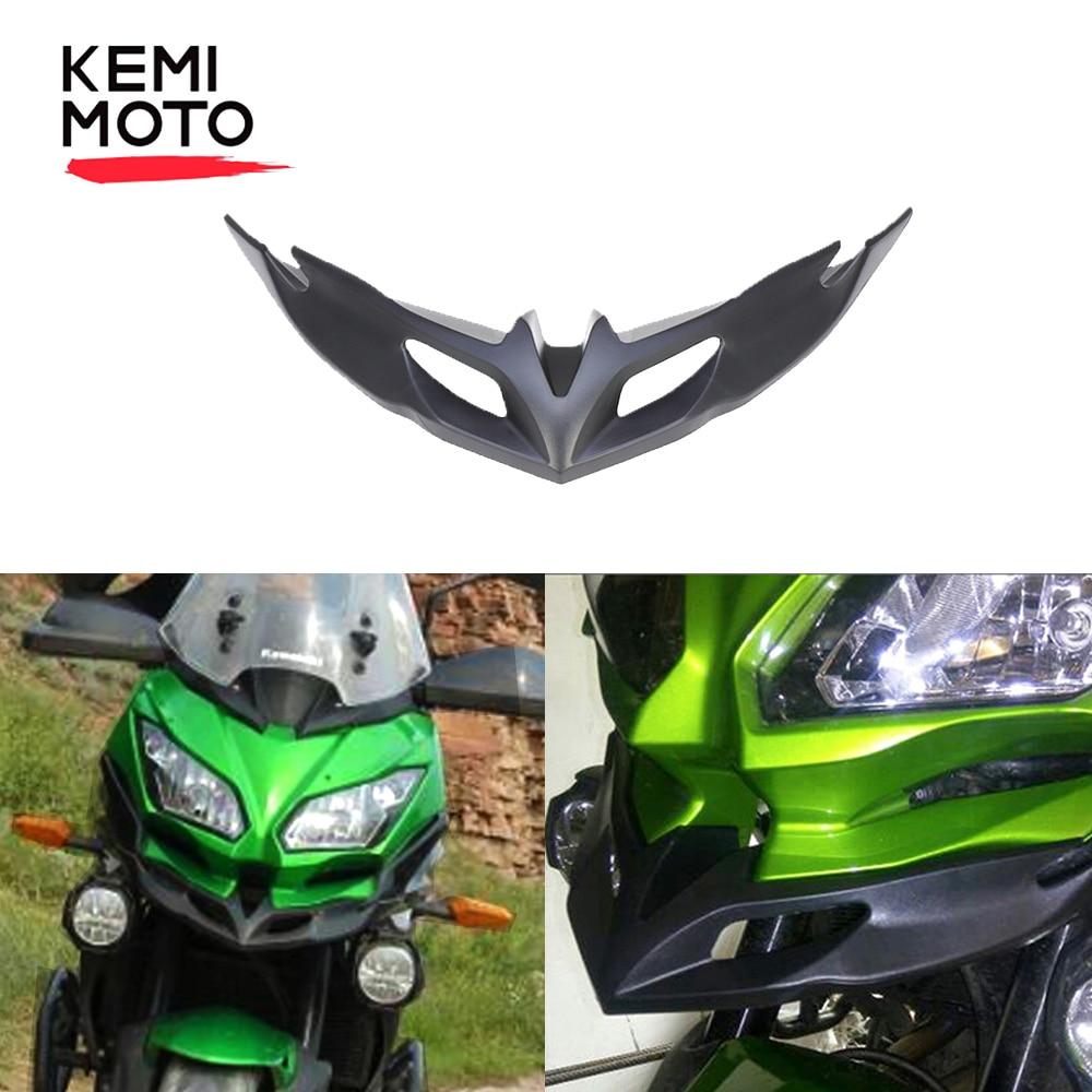 KEMIMOTO For KAWASAKI Versys 650 2015- 2018 2019 Motorcycle Front Fairing Aerodynamic Winglets ABS lower Cover Protection Guards(China)