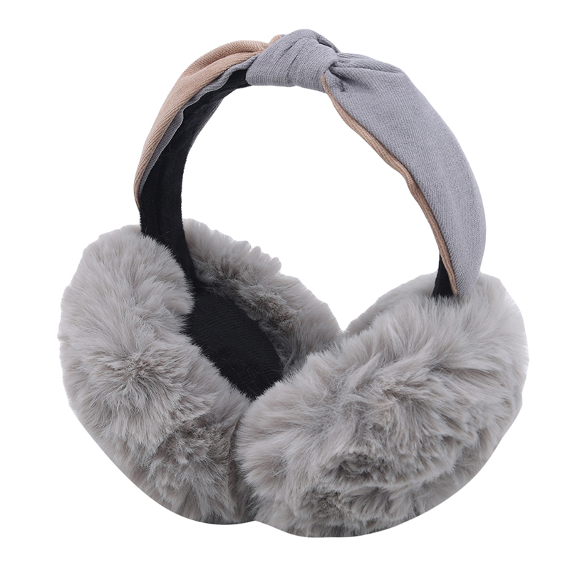 Winter Cute Ears Bow Earmuffs Cute Plush Bow Earmuff Female Anti-freeze Ear Warm Plush Warm Protection Earmuffs