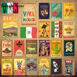 México poster méxico bandeira de metal estanho sinais feliz cinco de mayo maya viva adesivo de parede bar pub club decoração da sua casa YI-173