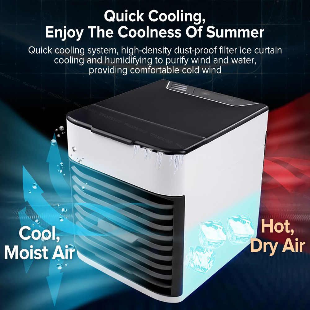 Home Mini Klimaanlage Tragbare Luftkühler Persönlichen Raum Luftkühlung USB Aufladbare Klimaanlage Farben Licht Schreibtisch Fan