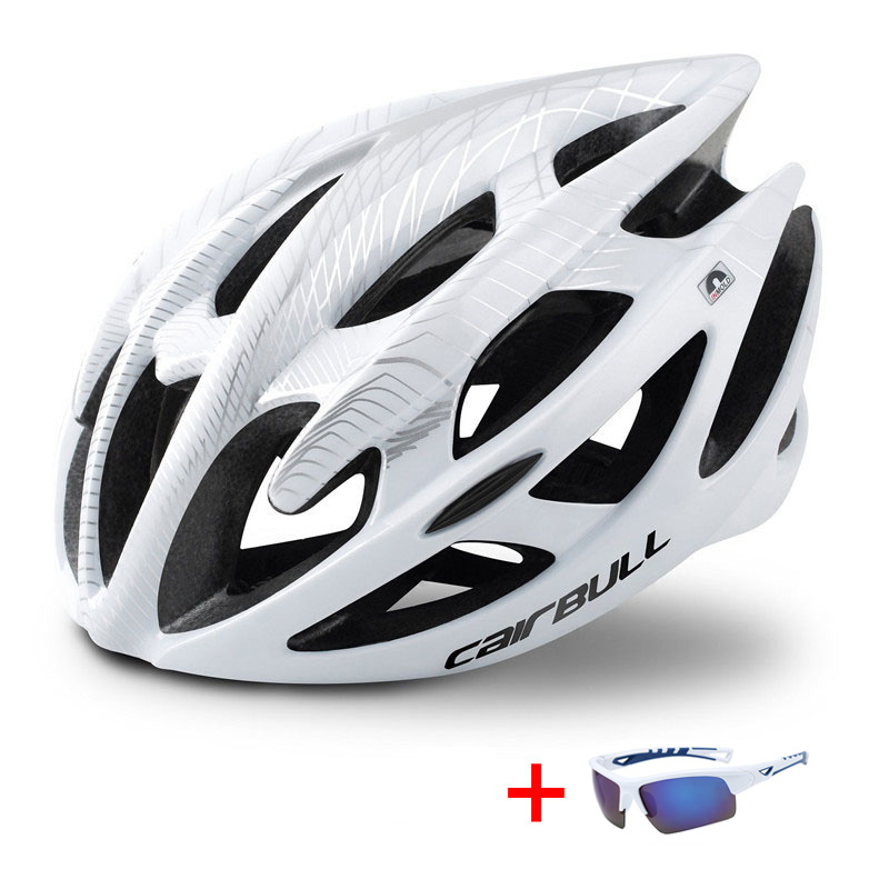 TRAIL DH MTB Bicycle Helmet with Sunglasses Ultralight Racing Cycling Helmet Men Women In-mold Road Bike Mountain Bike Helmet