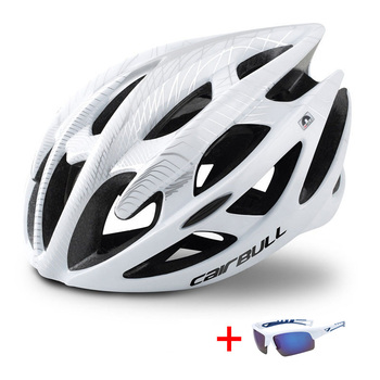 Trilha dh mtb capacete de bicicleta com óculos de sol ultraleve corrida ciclismo capacete das mulheres dos homens in-mold estrada da bicicleta de montanha capacete 1