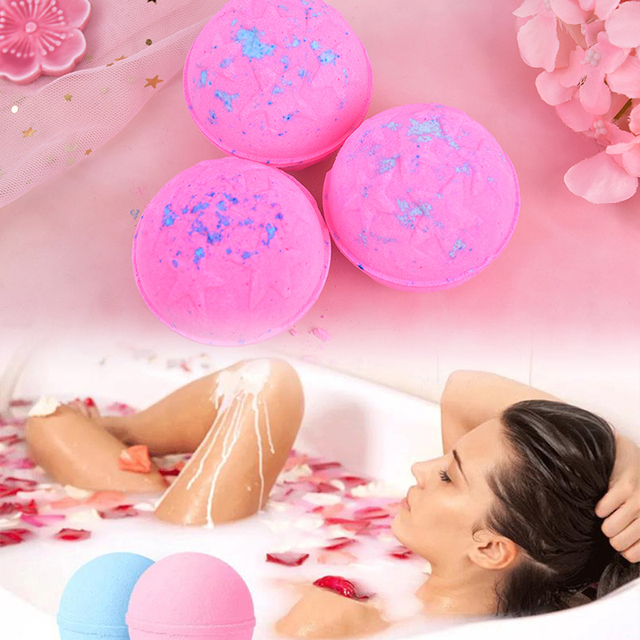 2PCS Fashion Handmade Bath Organic Bath Balls Skin Moisturize Bubble Bath Salt