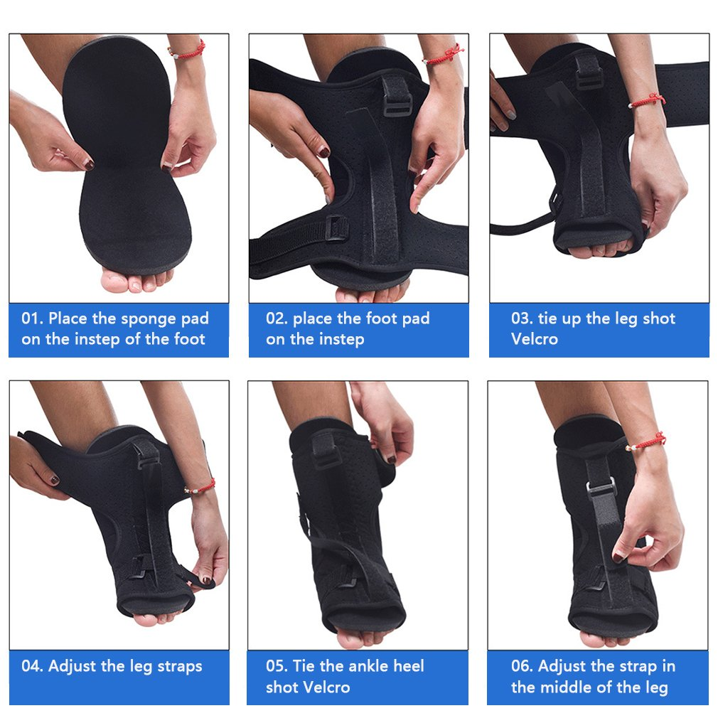 Foot Orthosis Plantar Fascia Night Release Splint Adjustable Back Foot Support Massage Ball For Men And Women