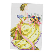 1 pack stamped cross stitch kits spring queen pattern for room
