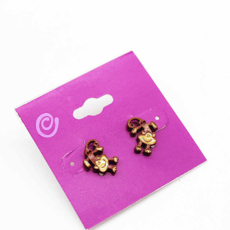 Cartoon dripping oil little monkey earrings cute fashion