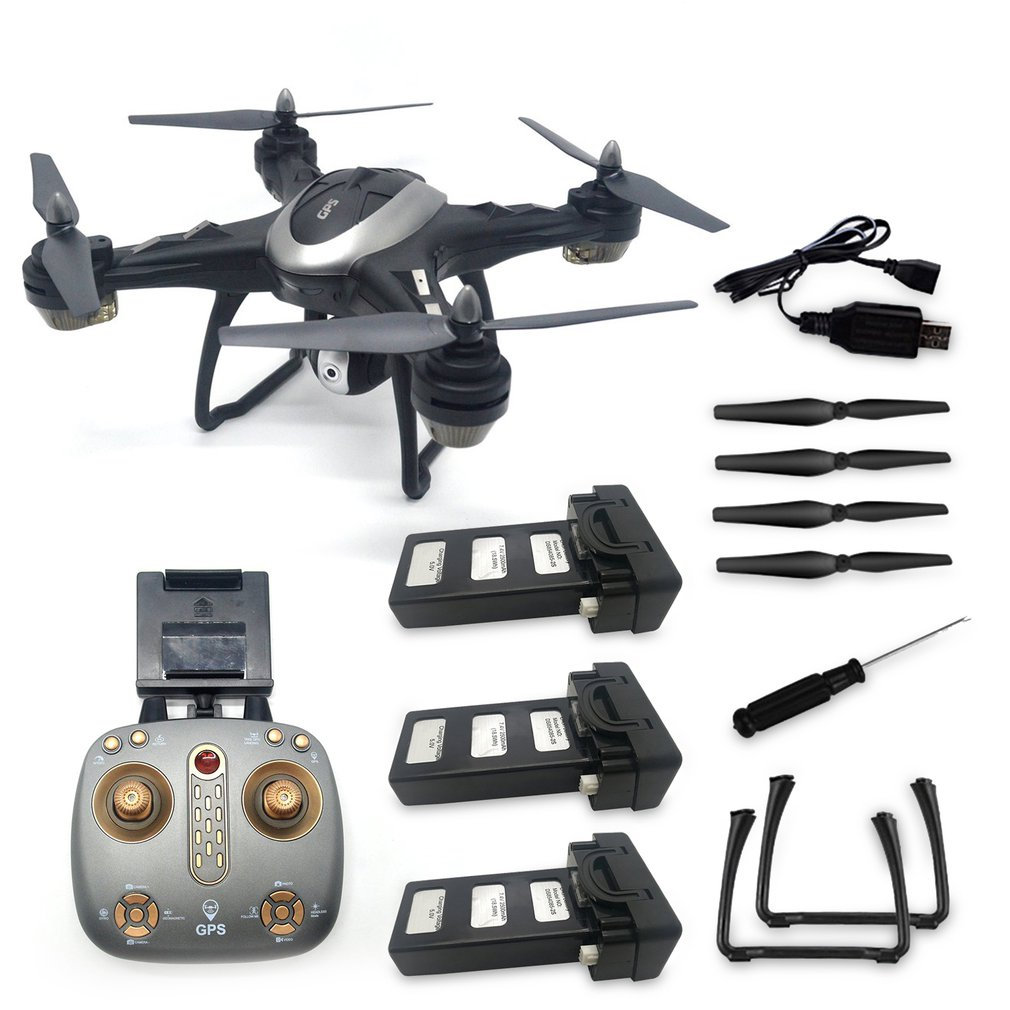 LH-X38GWF Drone Dual GPS WIFI FPV Drone HD 1080P Camera Remote Control Helicopter RC Drone Professional Drone w  3 Batteries