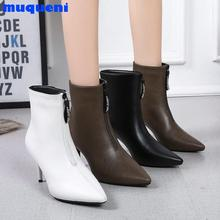 korean girls microfiber classic colors nightclub small square toe super high heel back zip young lady  boots 2021