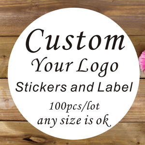 100PCS 3cm 4cm 5cm 6cm 7cm custom sticker and Customized LOGO/Wedding stickers/Design Your Own Stickers/Personalized stickers