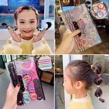 200/500 шт/пакет девушки милые базовые разноцветные резинки