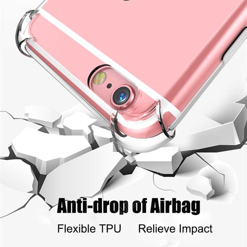 واضح شفاف TPU سيليكون حقيبة لهاتف أي فون 11 برو ماكس 2019 X XS ماكس XR 6 7 8 6S زائد واقية المطاط كابا غطاء إطار هاتف محمول
