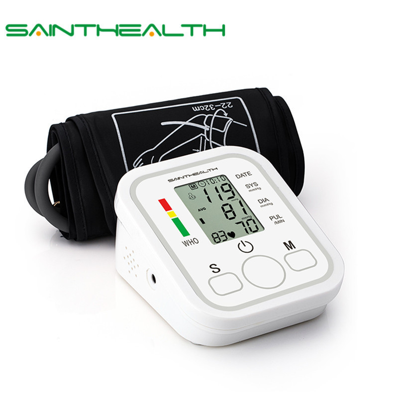 Automatic Digital  Lcd  Upper Arm Blood Pressure Monitor Heart Beat Rate Pulse Meter Tonometer Sphygmomanometers Pulsometer