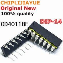 10 pces cd4011be dip14 cd4011b cd4011 4011 dip-14 novo e original chipset ic