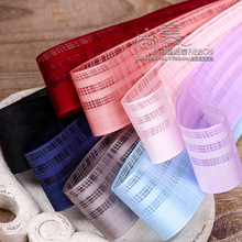 100yards 16 25 38mm hollow out mesh stripes checked plaid ribbon for hair bow diy accessories bouquet gift flower packing