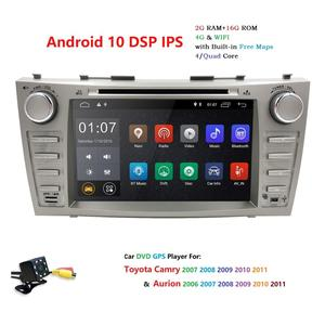 """Image 4 - 8 """"Android 10.0 Auto Stereo Dvd Radio Voor Toyota Camry Aurion 2007 2008 2009 2010 2011 Gps Navigatie Swc bt OBD2 2 Gb Ram + Camera"""
