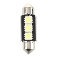 2X 36MM Bulb Lamp 3 LED White Car Dome CANBUS