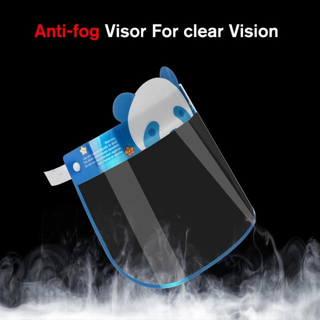 10PCS Kids Full Face Shield Mask Protective Visor Face Mask Plastic Anti Splash Anti saliva Dust-proof Full Face Cover 2