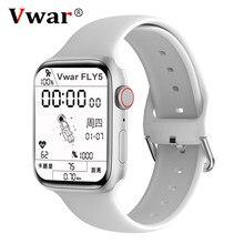Vwar fly5 relógio inteligente série 6 com gps siri bluetooth chamada smartwatch iwo 16 pressão arterial para apple xiaomi telefone vs w56 w66