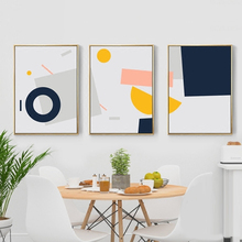 Simpleness Colorful Geometry Pictures For Home Design Wall Living Room Abstractos Modernos