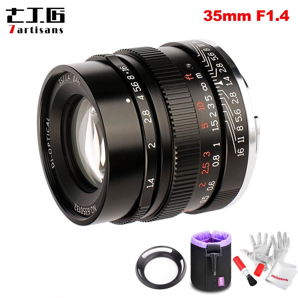 7 artesãos 35mm F1.4 Full Frame Foco Fixo Lente Principal para Todos Os Único Series para Sony E mount- câmeras A7 A7II A7R A7RII A7S A6500