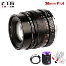 7 artesanos de 35mm F1.4 lente principal de enfoque fijo de marco completo para todas las Series individuales para cámaras Sony e mount A7 A7II A7R A7RII A7S A6500