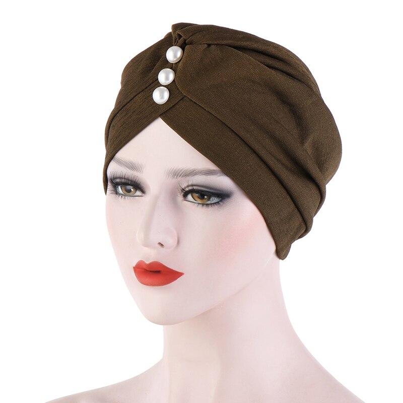 Arab wrap head Muslim turban autumn fashion hijabs cap 2020 cotton solid muslim turban scarf women islamic hijab caps