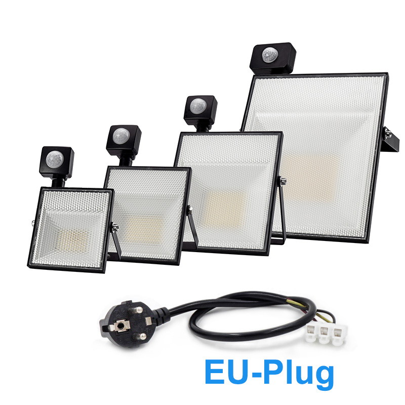 <font><b>LED</b></font> Motion Sensor <font><b>Floodlight</b></font> <font><b>60W</b></font> 45W 30W 15W Waterproof <font><b>LED</b></font> Reflector Spotlight IP65 AC230V Outdoor Lighting For Highway Square image