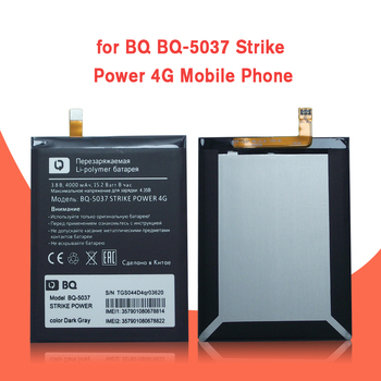 New 4000mAh BQ-5037 Replacement Battery Batterie For BQ 5037 Strike Power 4G Mobile Phone Batteries+Tracking недорого