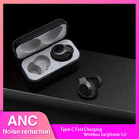 ANC TWS True Wireless Bluetooth 5.0 Earphone Stereo Active Noise Canceling Earbuds TYPE-C Fast Charger ANC Earphones For Phone