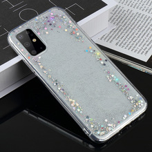 LAPOPNUT Soft Sequins Clear Phone Case for Samsung