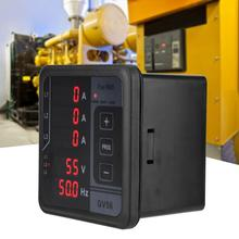 GV56 Three-phase Generator Digital Multifunctional Meter Voltage Amp Frequency Meter for Generator Set three phase variable frequency power meter three phase power meter high speed current and voltage power acquisition rs485