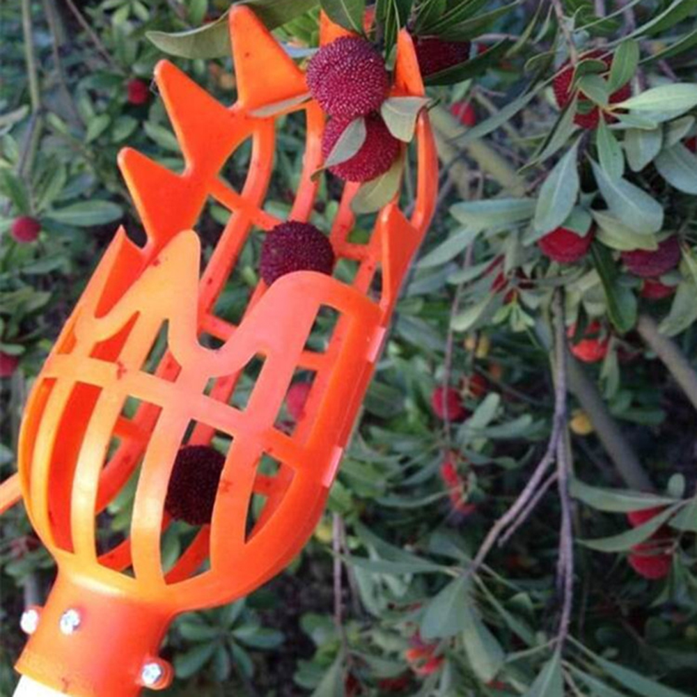 Farming Garden Tool Plastic Fruit Picker Head Fruits Collection Picking Tool Catcher Device Garden Planting Picking Hand Tools