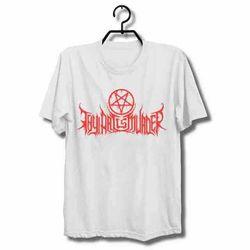 A arte é camiseta branca do assassinato do t do costume novo dos homens t camisa tamanho s a 3xl