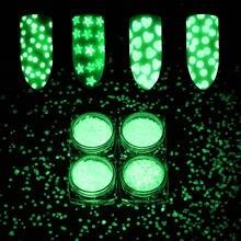 Дизайн ногтей светящееся круглое Персиковое сердце флуоресцентные