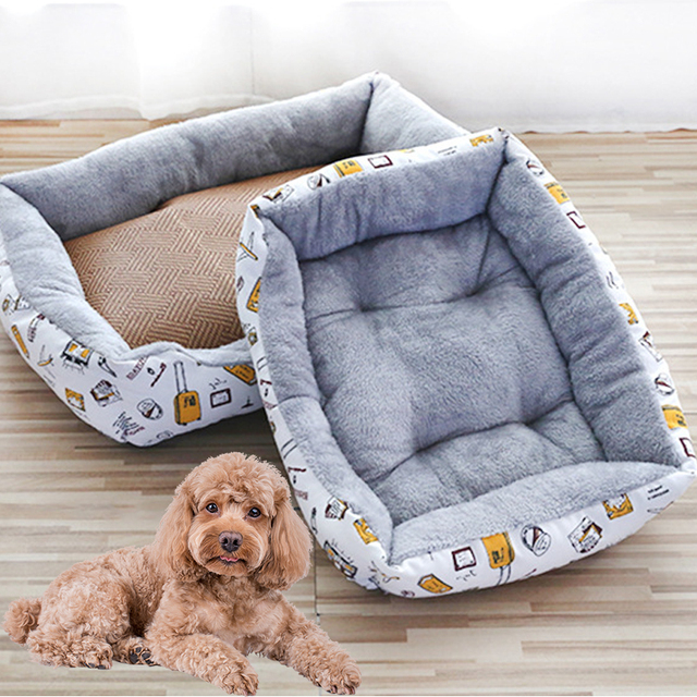 new Pet Cat dog Bed Warm Pet Products For Small Medium Large Dog Soft For Dogs Washable House For Cat Puppy Cotton Kennel Mat 3