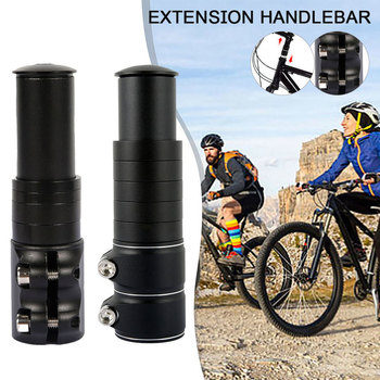 цена на Aluminum Alloy Bicycle Handlebar Extender Fork Stem Extension Heads Up Black Bike Fork Extender MTB Mountain Cycling Bike Part